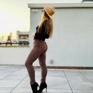 FA Suede Tight Legging Skinny Elastic Classy Pants